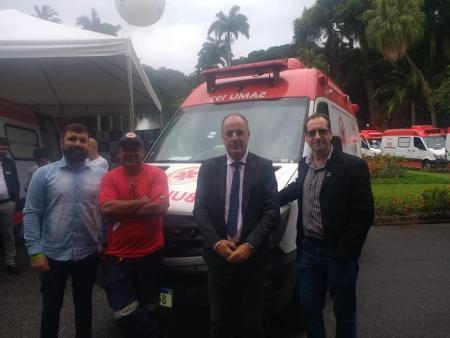 Município recebeu nova ambulância do SAMU.