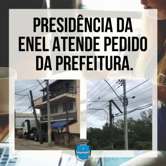 Presidência da Enel atende pedido da prefeitura.
