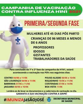 Campanha Nacional de Vacinação Contra Influenza H1N1 – 2021