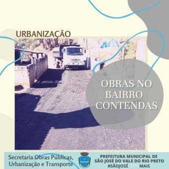 Obras de Urbanização no Bairro Contendas