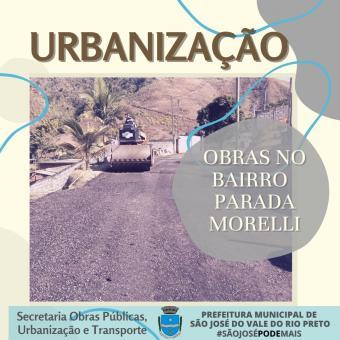 Obras de Urbanização no Bairro Parada Morelli