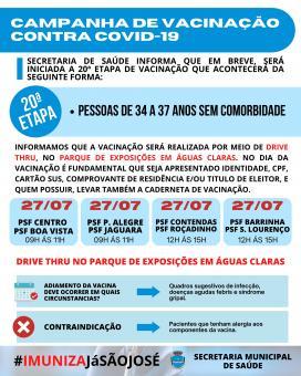 Campanha de vacinação contra COVID-19 (20ª Etapa)