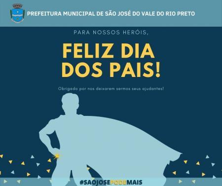Prefeitura Municipal deseja a todos pais um feliz dia dos pais!