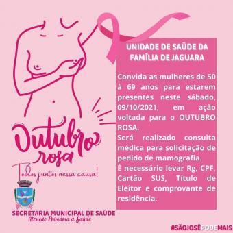 Outubro Rosa + Repescagem de Vacinação Contra COVID-19