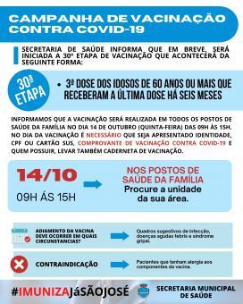 Campanha de Vacinação Contra COVID-19 (30ª Etapa)